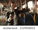 young businessman wearing a... | Shutterstock . vector #1119533012