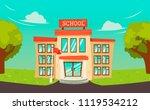 junior high school building... | Shutterstock .eps vector #1119534212