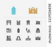 travel icons set  abu dhabi ...