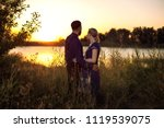 people look at the sunset | Shutterstock . vector #1119539075