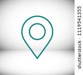 map pointer flat icon  stock...