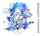 vector geometric alchemy symbol ... | Shutterstock .eps vector #1119542018