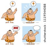 funny caveman cartoon mascot...   Shutterstock .eps vector #1119544088