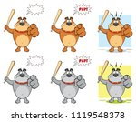 bulldog cartoon mascot...   Shutterstock .eps vector #1119548378