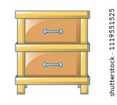 double drawer icon. cartoon of... | Shutterstock .eps vector #1119551525