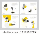 modern geometrical collection... | Shutterstock .eps vector #1119553715