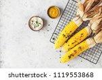 corn bbq with sauce | Shutterstock . vector #1119553868