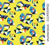 vivid abstract pattern with... | Shutterstock .eps vector #1119555932
