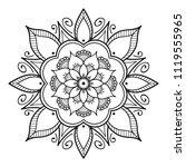 mandala pattern black and white.... | Shutterstock .eps vector #1119555965