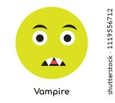 vampire icon vector isolated on ... | Shutterstock .eps vector #1119556712