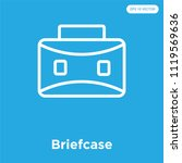 briefcase vector icon isolated...   Shutterstock .eps vector #1119569636