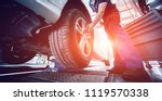 automotive suspension test and... | Shutterstock . vector #1119570338