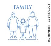 family. mom  dad and daughter.... | Shutterstock .eps vector #1119571025