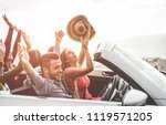 happy people having fun in...   Shutterstock . vector #1119571205