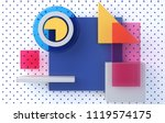 front view  minimalist abstract ... | Shutterstock . vector #1119574175