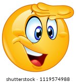 happy emoticon looking away... | Shutterstock .eps vector #1119574988