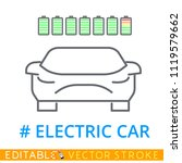 thin line electric car icon on...   Shutterstock .eps vector #1119579662