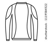 thermo clothes icon. outline... | Shutterstock .eps vector #1119584522