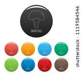broccoli icon. outline...   Shutterstock .eps vector #1119584546