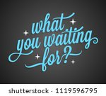 what you waiting for vintage... | Shutterstock .eps vector #1119596795
