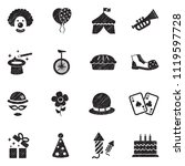 clown icons. black scribble...   Shutterstock .eps vector #1119597728