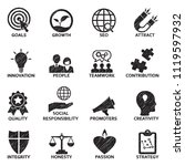 company core values icons....   Shutterstock .eps vector #1119597932