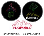 flame and gas industrial... | Shutterstock .eps vector #1119600845