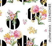 flowers pattern.for textile ... | Shutterstock . vector #1119603485