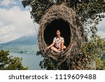 young tourist enjoying her... | Shutterstock . vector #1119609488