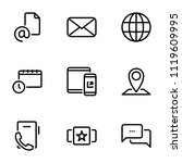 set of black icons isolated on... | Shutterstock .eps vector #1119609995