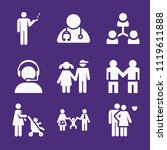 set of 9 people filled icons... | Shutterstock .eps vector #1119611888