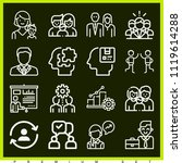 set of 16 people outline icons... | Shutterstock .eps vector #1119614288