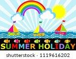 fantasy cartoon seascape with...   Shutterstock .eps vector #1119616202