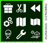 set of 9 other filled icons...   Shutterstock .eps vector #1119628862