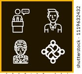 set of 4 man outline icons such ... | Shutterstock .eps vector #1119632432