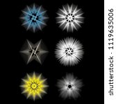 symbols of sacred geometry ... | Shutterstock .eps vector #1119635006
