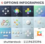 collection of infographic... | Shutterstock .eps vector #1119635396