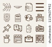set of 16 other outline icons... | Shutterstock .eps vector #1119637952