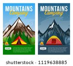 vector day and night mountains... | Shutterstock .eps vector #1119638885