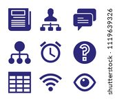 set of 9 interface filled icons ... | Shutterstock .eps vector #1119639326