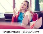 girl's shoe sole closeup....   Shutterstock . vector #1119640295