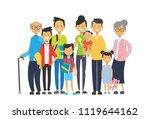 multi generation family... | Shutterstock .eps vector #1119644162