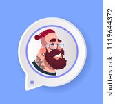 profile serious beard tatoo... | Shutterstock .eps vector #1119644372