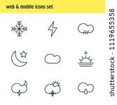 illustration of 9 atmosphere... | Shutterstock . vector #1119655358