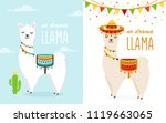 vector illustration of cute... | Shutterstock .eps vector #1119663065