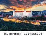 Bratislava castle at sunset, Bratislava, Slovakia