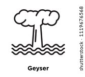 geyser icon vector isolated on... | Shutterstock .eps vector #1119676568