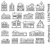 buildings  home and house thin... | Shutterstock .eps vector #1119679448