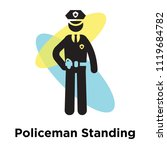 policeman standing up icon... | Shutterstock .eps vector #1119684782