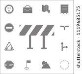 road barrier icon. detailed set ... | Shutterstock .eps vector #1119685175